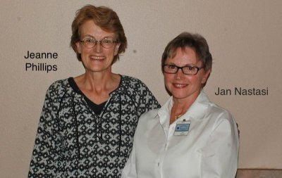 2015 Secretaries Jeanne Phillips and Jan Nastasi