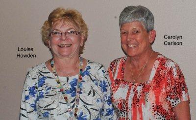 2015 Treasurers Louise Howden and Caroline Carlson