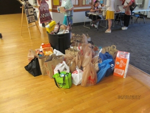 Donations for the food bank