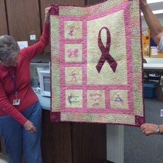 2106 Cancer Raffle quilt